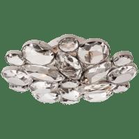 Lloyd Medium Round Flush Mount in Polished Nickel with Clear Glass