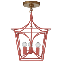 Cavanagh Mini Lantern in Coral and Gild