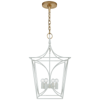Cavanagh Small Lantern in Light Cream and Gild