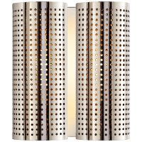 Precision Double Sconce in Polished Nickel