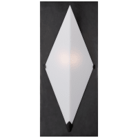 Forma Sconce in Bronze with White Glass