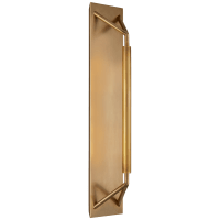 Appareil Large Sconce in Antique-Burnished Brass