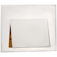 Esker Envelope Sconce in Polished Nickel