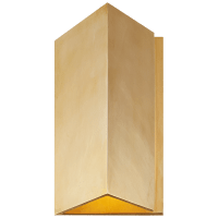 Esker Small Triangle Sconce in Antique-Burnished Brass
