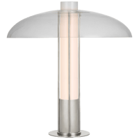 Troye Medium Table Lamp in Polished Nickel with Clear Glass