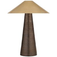 Miramar Accent Lamp in Crystal Bronze with Antique-Burnished Brass Shade