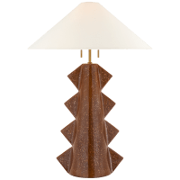 Senso Large Table Lamp in Autumn Copper with Linen Shade