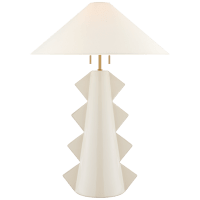 Senso Large Table Lamp in Ivory with Linen Shade