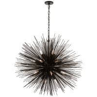 Strada Large Round Chandelier in Aged Iron