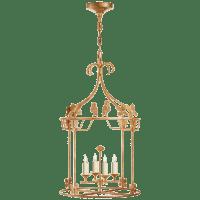 Luciano Medium Round Lantern in Gilded Iron