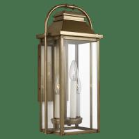 Wellsworth Small Lantern Painted Distressed Brass