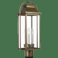 Wellsworth Post Lantern Painted Distressed Brass