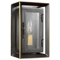 Urbandale Small Lantern Antique Bronze / Painted Burnished Brass