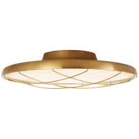 "Dot 16"" Caged Flush Mount in Natural Brass"