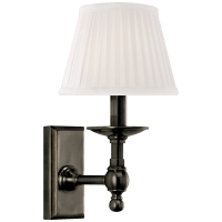 Payson Sconce in Bronze with Silk Shade