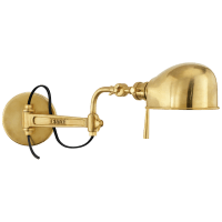 RL '67 Swing Arm Wall Lamp in Natural Brass