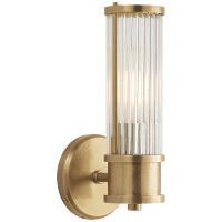 Allen Single Sconce in Natural Brass and Glass Rods