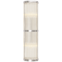 Allen Medium Linear Sconce in Polished Nickel and Glass Rods
