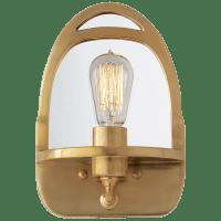 Westbury Mirrored Sconce in Natural Brass