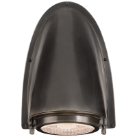 Grant Large Sconce in Bronze with Industrial Prismatic Glass