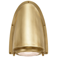 Grant Large Sconce in Natural Brass with Industrial Prismatic Glass