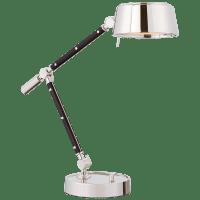 Alaster Task Lamp in Polished Nickel and Black Ebony