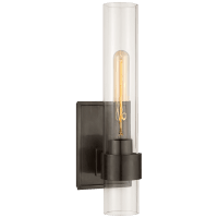 Presidio Petite Sconce in Bronze with Clear Glass