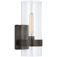 Presidio Small Sconce in Bronze with Clear Glass