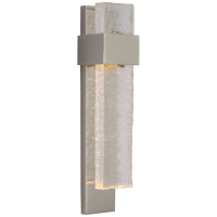 Brock Medium Sconce in Polished Nickel and Clear Wavy Glass
