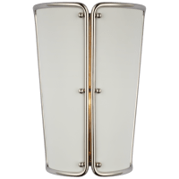 Hastings Small Sconce in Polished Nickel with White Shade