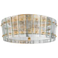 Cadence Medium Single-Tier Flush Mount in Hand-Rubbed Antique Brass with Antique Mirror