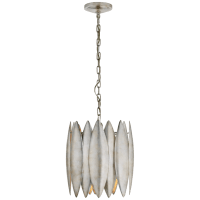 Hatton Small Chandelier in Burnished Silver Leaf