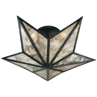 Constellation Small Flush Mount in Bronze with Antique Mirror