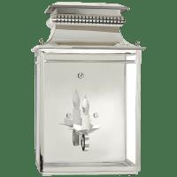 Flea Market Lantern in Polished Nickel