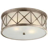 Montpelier Large Flush Mount in Antique Nickel with Frosted Glass