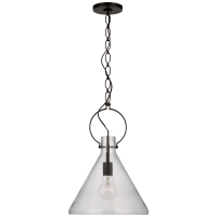 Limoges Medium Pendant in Natural Rust with Clear Glass
