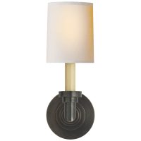 Wilton Single Sconce in Bronze with Natural Paper Shade