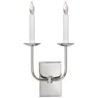 TT Double Sconce in Polished Nickel