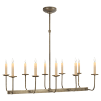 Linear Branched Chandelier in Antique Nickel