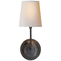 Vendome Single Sconce in Bronze with Natural Paper Shade