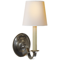 Channing Single Sconce in Bronze with Natural Paper Shade