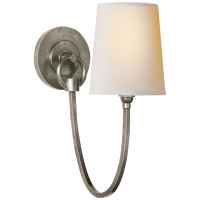 Reed Single Sconce in Antique Nickel with Natural Paper Shade