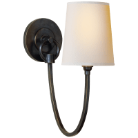 Reed Single Sconce in Bronze with Natural Paper Shade