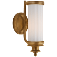 Milton Road Sconce in Hand-Rubbed Antique Brass with White Glass
