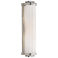 Milton Road Bath Light in Polished Nickel with White Glass