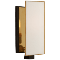 Albertine Petite Sconce in Bronze and Brass with Linen Diffuser