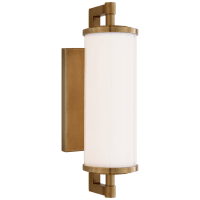 "Landis 13"" Bath Light in Hand-Rubbed Antique Brass with White Glass"