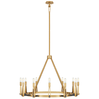 Alpha Grande Chandelier in Hand-Rubbed Antique Brass and Bronze
