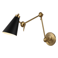 Signoret 2 - Arm Library Sconce Burnished Brass