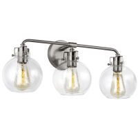 Clara 3 - Light Vanity Satin Nickel